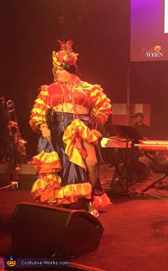 On stage for judging, Carmen Miranda Costume