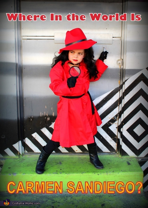 Carmen Sandiego Homemade Costume