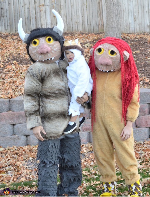 Carol, KW, and Max - Where the Wild Things Are Family Costume