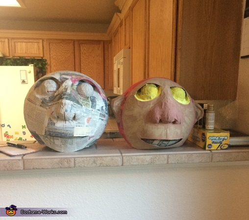 Masks in Progress, Carol, KW, and Max - Where the Wild Things Are Family Costume