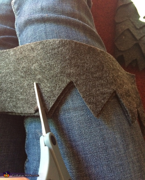 How to Cut Felt for Carol's Legs, Carol, KW, and Max - Where the Wild Things Are Family Costume