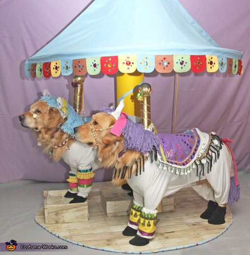Phoenix and Gryphon the Carousel Horses Costume