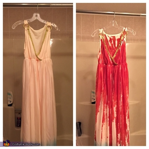 Before/After of original dress., Carrie Costume