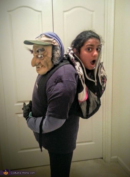 Carried in a Backpack Costume