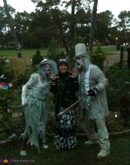 us posing with mom , Casino Zombies Costume