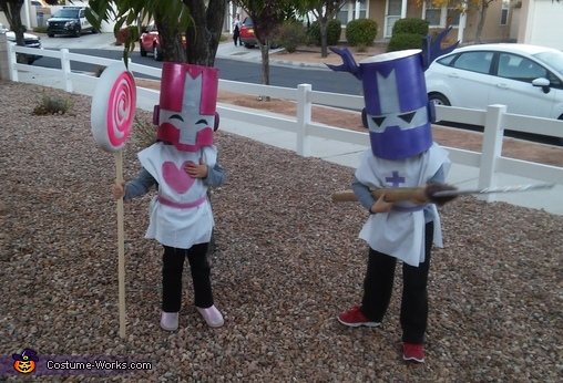 Castle Crashers Family Homemade Costume