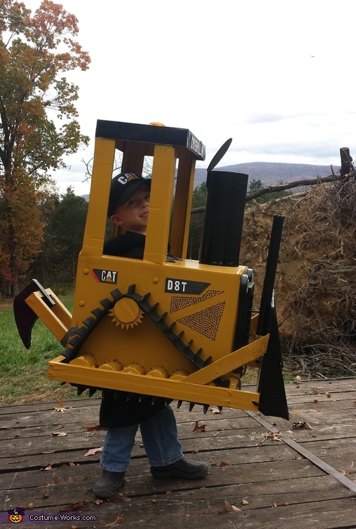 Cat Bull Dozer D8T Costume