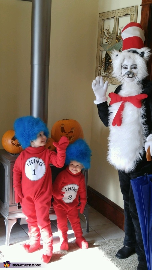 DIY Cat in the Hat Family Costume
