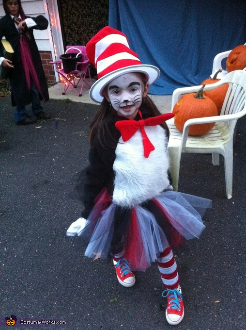 Hailee (5 Years) as Cat in the Hat, Cat in the Hat and Thing 1 Costume