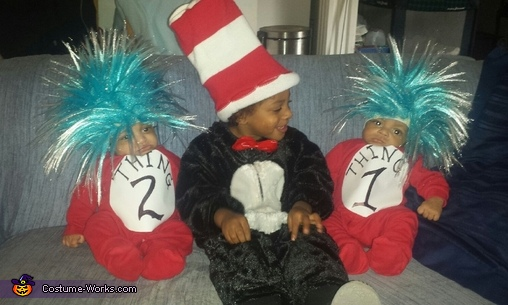 Cat in the Hat & Thing 1 & 2  picture 2, Cat in the Hat & Thing 1 & Thing 2 Costume