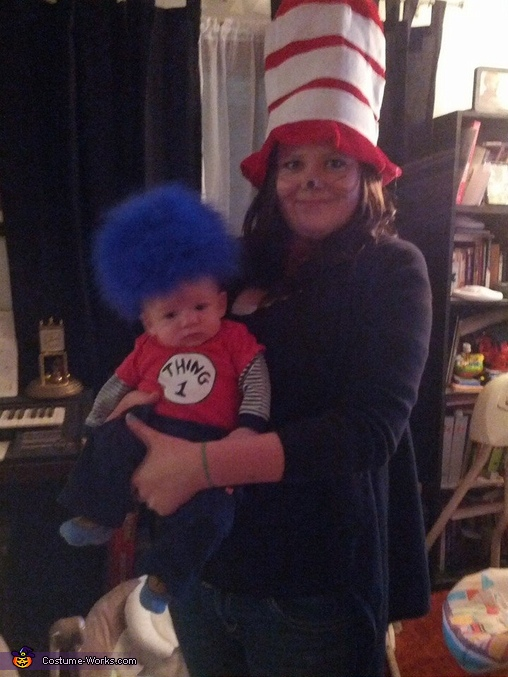 The Cat In The Hat and Thing 1, Cat in The Hat with Thing 1 and Thing 2 Costume