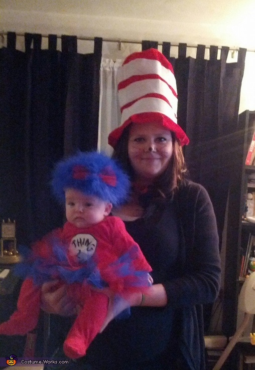 The Cat In The Hat and Thing 2, Cat in The Hat with Thing 1 and Thing 2 Costume
