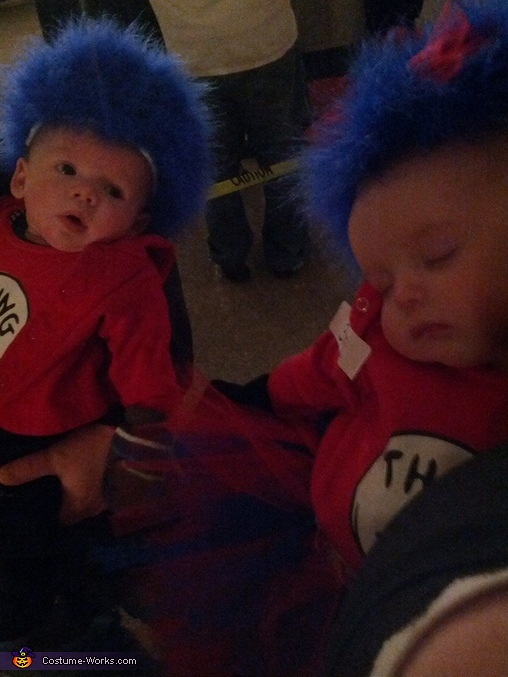 Thing 1 and Thing 2, Cat in The Hat with Thing 1 and Thing 2 Costume