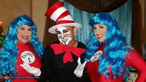 Why fit in when you were born to stand out? , Cat in the Hat with Thing One and Thing Two Costume