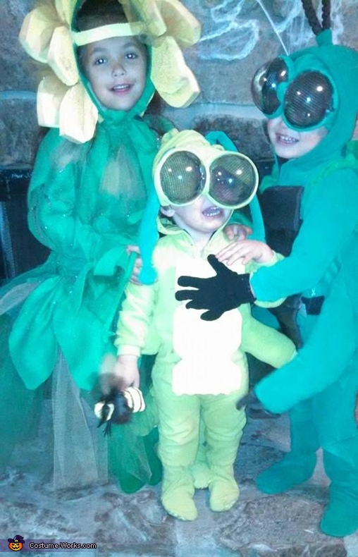 Here are Declan's brother and sister. I also made these costumes. Again, we wanted to go with a garden theme. Everybody loved the costumes!, Caterpillar Costume