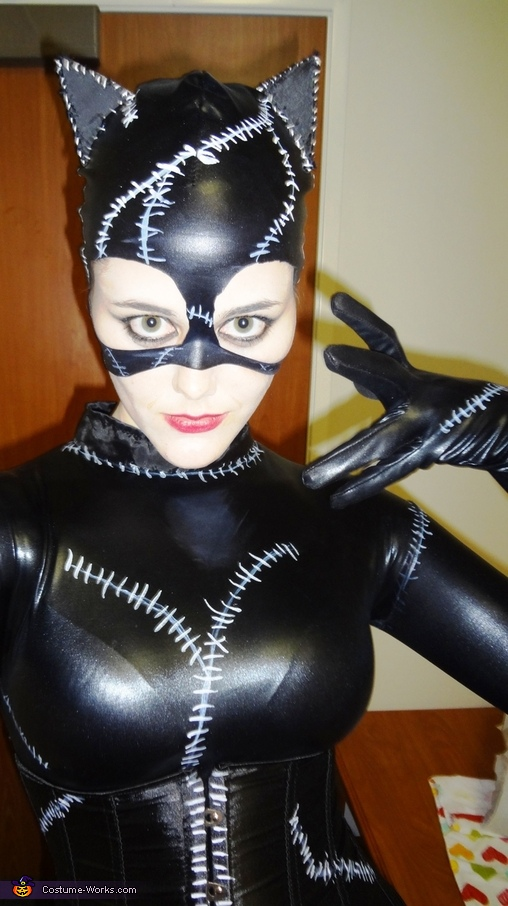 Makeup and mask detail, Catwoman Costume