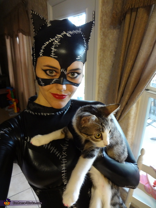 With Miss Kitty, Catwoman Costume