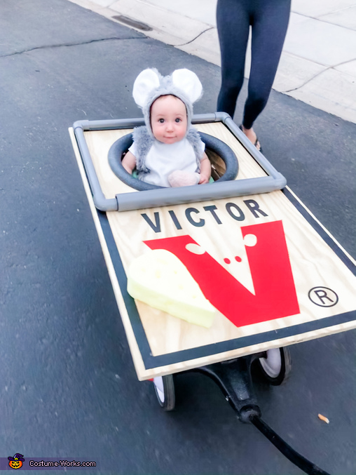 Trick or Treating mouse., Caught in the Mouse Trap Costume