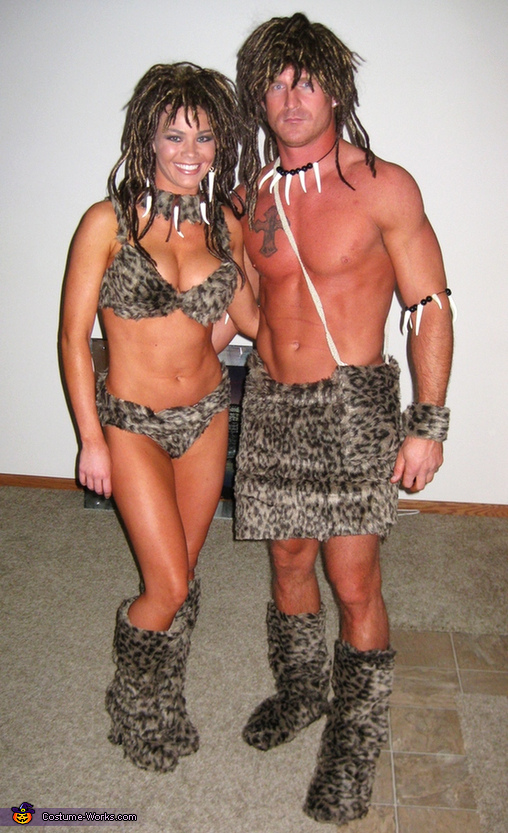Cave Man and Cave Girl Costumes  sc 1 st  Costume Works & Cave Man and Cave Girl Halloween Costume for Couples