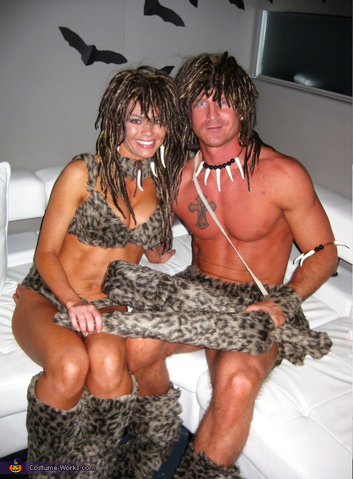 Cave People 2, Cave Man and Cave Girl Costumes