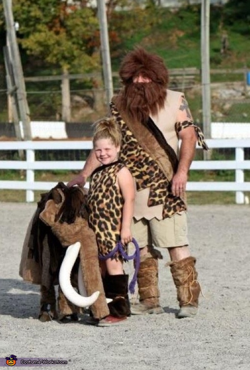 caveman family, Cave Girl and Mammoth Costume