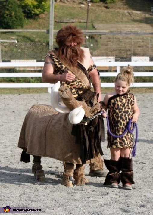 Cave Girl and Mammoth Homemade Costumes