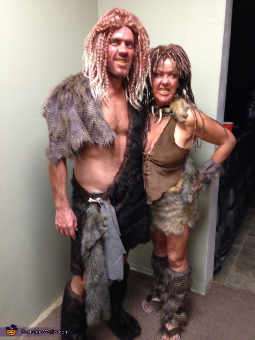 Cave Man and Cave Women Couple Costume