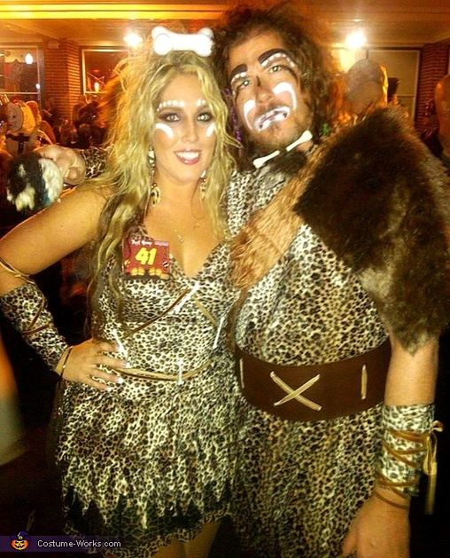 Cave Man & Cave Woman Couple Costume