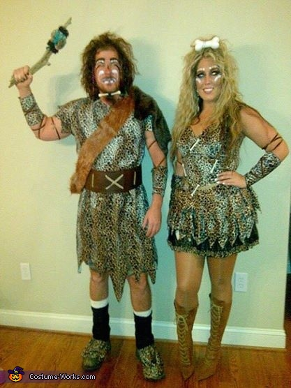 Cave People, Cave Man & Cave Woman Couple Costume