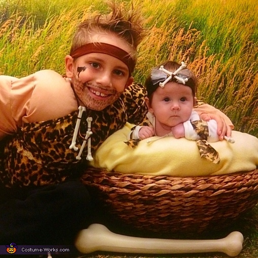 CaveMan and CaveBaby Costume