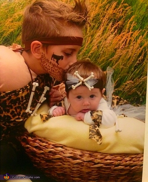 CaveBubby and CaveSissy! , CaveMan and CaveBaby Costume