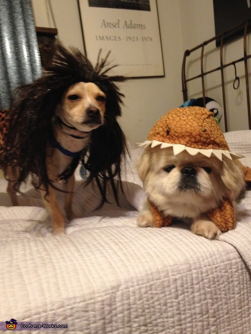 Caveman and Dinosaur Dog Costumes : dog costumes dinosaur  - Germanpascual.Com