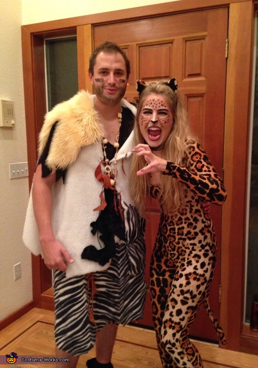 Caveman and Leopard Couples Costume