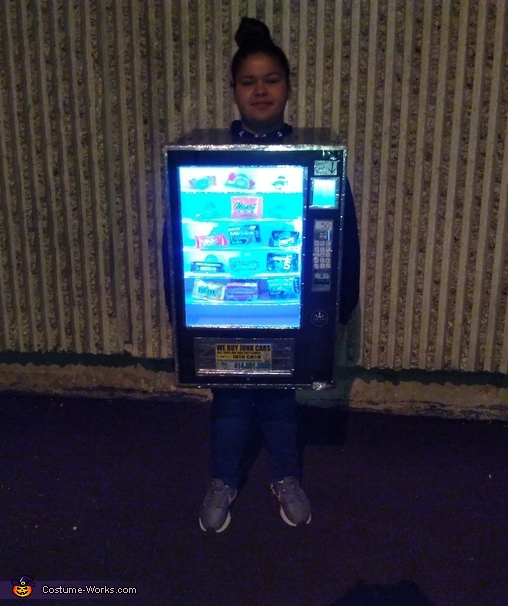 Outside lights on, Cece's Vending Machine Costume