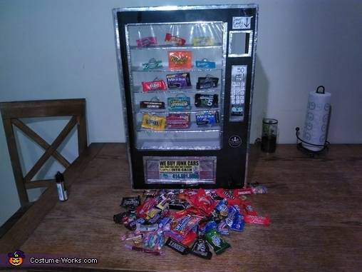 Clean out lights off, Cece's Vending Machine Costume