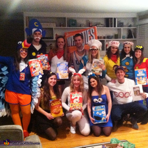 Cereal Character Mascots Group Costume