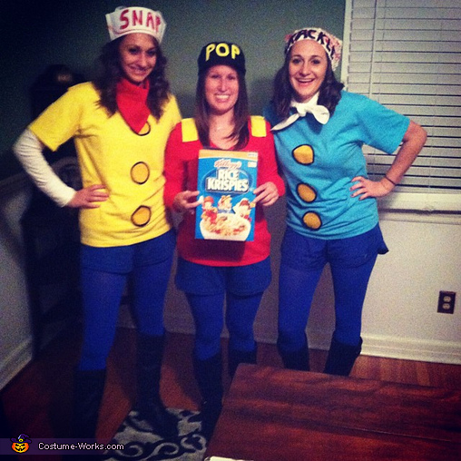 Snap Crackle Pop, Cereal Character Mascots Group Costume