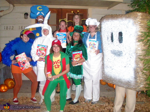 each member of your group can pick their favorite cereal and become the cartoon on the box the best thing about this costume is you wont get hungry