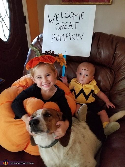 Charlie Brown and the Great Pumpkin Homemade Costume