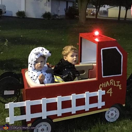 Charlie's Firetruck Costume