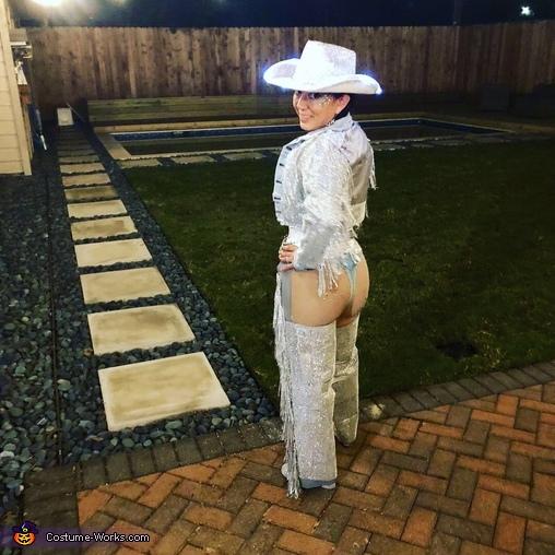 Side View, Cheeky Rhinestone Cowgirl Costume