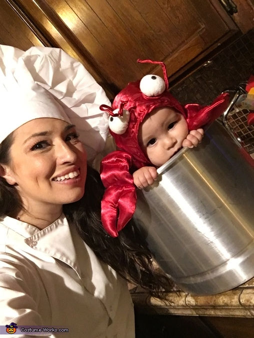 Chef Mama & Live Lobster Homemade Costume
