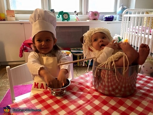 Chef Mamma Mia and Spaghetti and Meatballs Ala Rose, Chef Mamma Mia and Spaghetti and Meatballs Costume