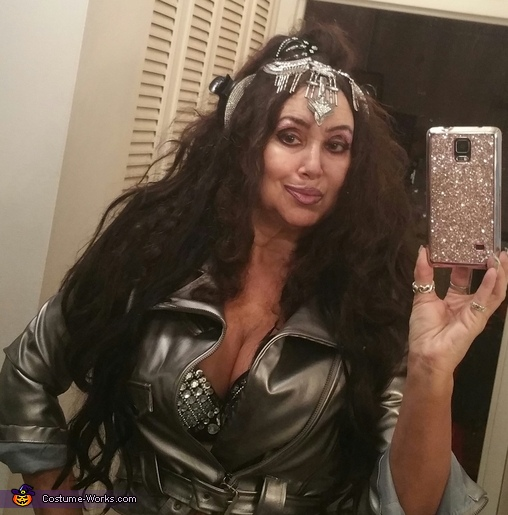 I designed and created rhinestone headress!, Cher Costume