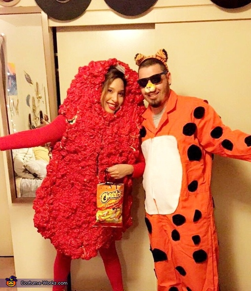 Chester the Cheetah and his Hot Cheeto Costume