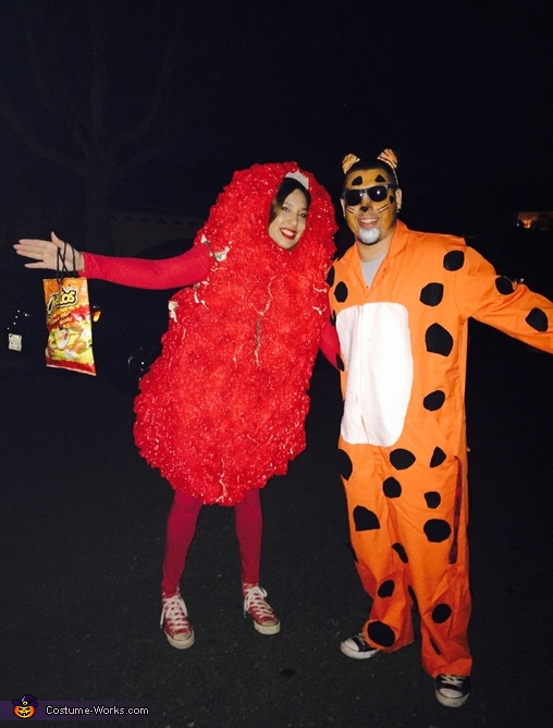 We owned the night, Chester the Cheetah and his Hot Cheeto Costume