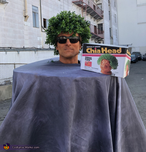 Chia Head alone, Chia Head and Chia Pet Costume