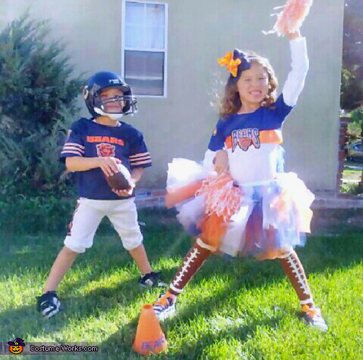 Chicago Bears Football Player and Cheerleader Costume
