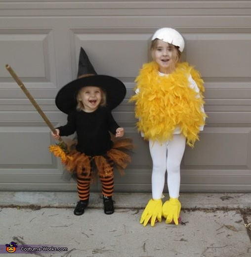 Chick and Witch Costume