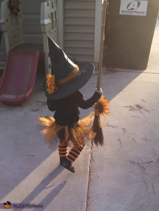 Chick and Witch Homemade Costume